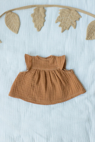 Musselin-Kleid zimt