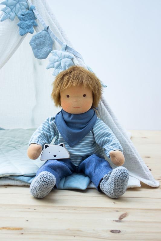 Anfertigung Puppenjunge Luca 45 cm