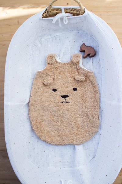 Schlafsack Bär  für 45 cm Puppe
